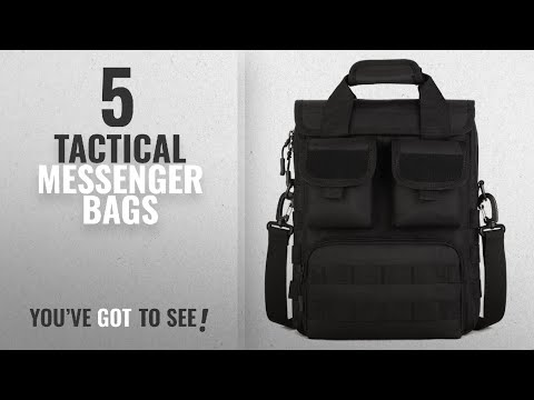 Featured Tactical Messenger Bags [2018]: DYJ Military Mole Tactical Field Laptop Briefcase Gear
