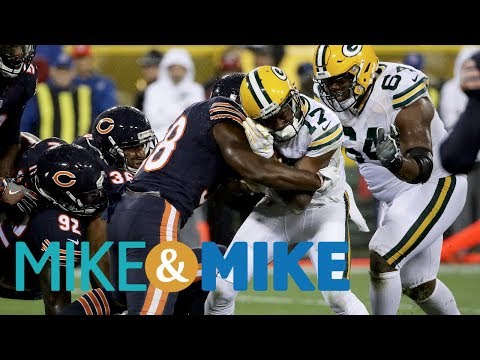 Was the Bears celebrated hit on Davante Adams too much? | Mike and Mike | ESPN