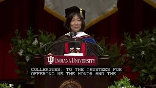Pauline Yu, president of the American Council of Learned Societies, delivered the Indiana University Bloomington...