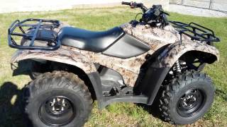 7. 2010 Honda Rancher 4x4 overview and walkaround