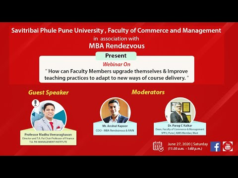 """Webinar on """"How can Faculty Members upgrade themselves & improve teaching practices"""""""