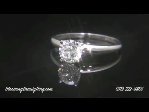 Tiffany Style Solitaire Diamond Engagement Ring-4 Prongs or 6