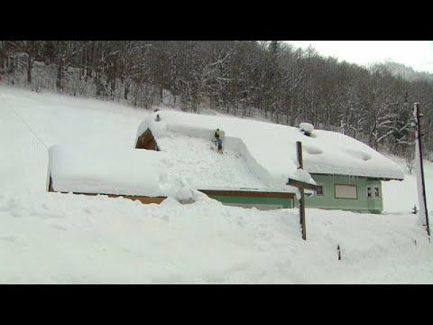 Αυστρία: Συναγερμός για τις χιονοστιβάδες