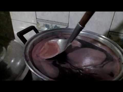 Bignay wine preparation on the first step started on boiling the selected ripe fruits