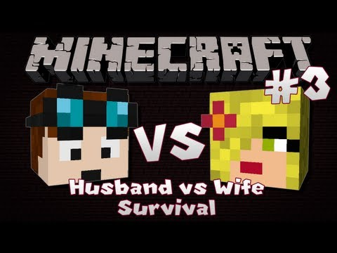 Minecraft | Husband VS Wife SURVIVAL | Episode 3 | Dungeons & Wolves (видео)