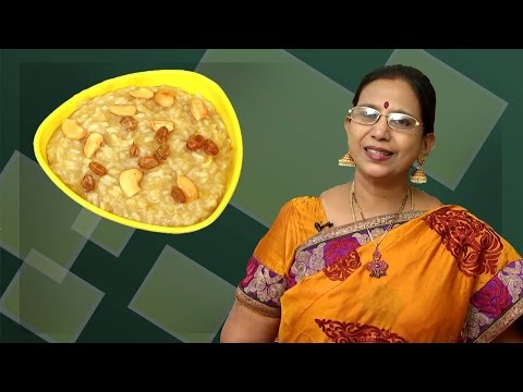 Sweet Pongal |  Mallika Badrinath | South Indian Recipes