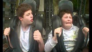 Funny Fat Kid On Saw Roller Coaster Ride