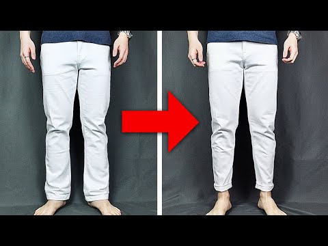 HOW TO TAPER PANTS Without Sewing Machine | Simple DIY Pants Taper