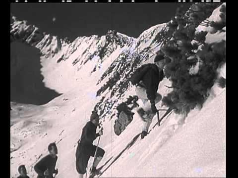 Príprava slovenských lyžiarov na Kežmarskej chate v roku 1957