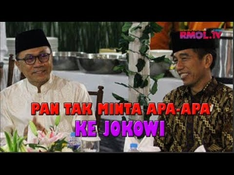 PAN Tak Minta Apa-apa Ke Jokowi