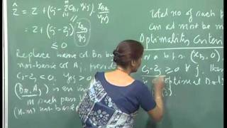 Mod-01 Lec-03 Moving From One Basic Feasible Solution To Another, Optimality Criteria.