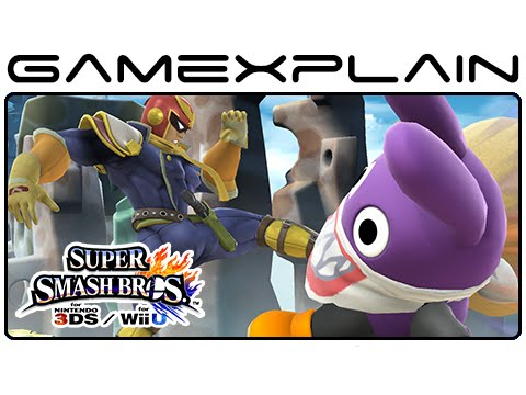3ds - http://www.GameXplain.com Check out 136 screenshots of Super Smash Bros. Wii U & 3DS in this 11-minute video that showcasing Sonic's 3DS stage Green Hill Zone, Captain Falcon kicking Nabbit,...