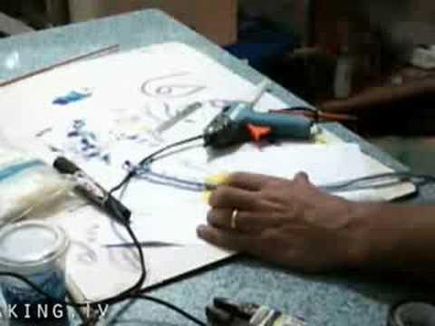 Puppet Building Blooper - Hot Melt Glue Gun Explodes