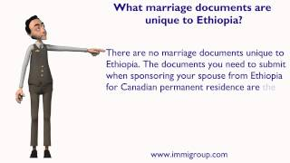 What Marriage Documents Are Unique To Ethiopia?