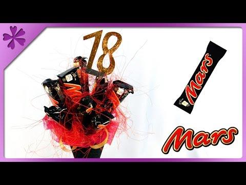DIY Mars chocolate bar bouquet for 18th birthday (ENG Subtitl