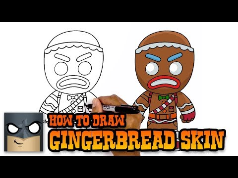 Fortnite| How to Draw Gingerbread Skin (Art Tutorial)