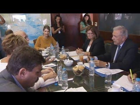 Συνάντηση  Αβραμόπουλου με Βίτσα, Γεροβασίλη, Ξανθό, Ρήγα και Γιαννακίδη στο υπουργείο  ΠροΠο