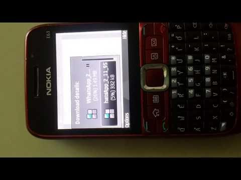 How to Install whatsapp on Nokia E63