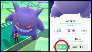 CAN A GENGAR BECOME A GIANT GENGAR IF IT GETS POWERED UP 100+ TIMES In Pokemon GO?! | David Vlas