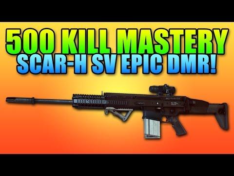 BF4 Scar-H SV Mastery Dog Tag - Top Quality DMR | Battlefield 4 DMR Gameplay