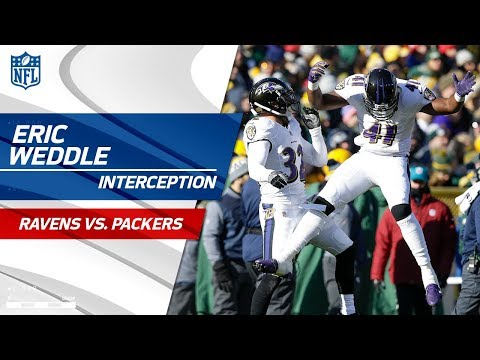 Video: Baltimore Takes the Lead w/ Weddle's INT Setting Up Tucker's FG | Ravens vs. Packers | NFL Wk 11