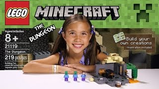 THE DUNGEON - LEGO MINECRAFT Set 21119 - Unboxing, Review, Time-Lapse Build