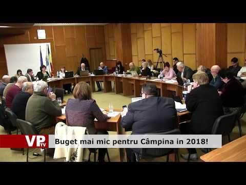 Buget mai mic pentru Câmpina în 2018!