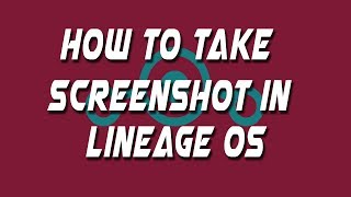 This videos teaches you how you can take screen-shot in lineage os 14.And there is also a new feature of partial screen shot like a snipping tool.Thanks for watching.Follow me on twitter: @techinov22