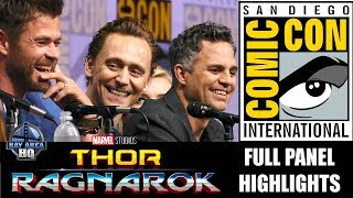 THOR RAGNAROK PANEL AT SDCC 17, TRAILER REACTION, Liam Hemsworth, Tom Hiddleston, Mark Ruffalo