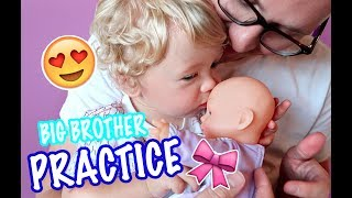 BIG BROTHER PRACTICES FOR NEW BABY GIRL!First 50 people to sign up will get three meals off their Blue Apron order free! http://cook.ba/2v0ANu3 Sponsored by Blue Apron!Subscribe to NEVER miss out! https://goo.gl/BlW7OUAdorable BABY GIRL Videos!!! 👶🏼👧🏼😍 https://goo.gl/rThwPw🍼👶🏼 Cute Baby Talmage : https://goo.gl/rThwPwBaby Talmage learns how to take care of a little baby girl! He is practicing with a cute baby doll for when his new baby sister is born! Janna and Braden Family are so excited for the birth of their little baby girl!***********************-*************-*****************************Send us something and we'll try to give you a shoutout in the vlog! Janna and BradenPO Box 1942Provo, UT 84603-1942************************************************We'd LOVE to connect with YOU!*Facebook - BRAND NEW!@Janna and Braden*Snapchat - Mini vlogs!@colemanbr*Instagram - Daily postings!@JannaandBraden@jannafayecolemanTWITTER@JannandbradenSUPER FAN - Contribute to closed captioning - http://www.youtube.com/timedtext_cs_panel?tab=2&c=UCzbFbm5T-Y5eBzpTAm0wb1A--------------------------------------------------------------------------------Music: Road Trip, Back to Summer, DreamsIntro music - Safety Net--------------------------------------------------------------------------------FTC Disclaimer: This video is a sponsored video by Blue Apron.For business or personal inquiries or collaborations contact: jannaandbraden@gmail.com