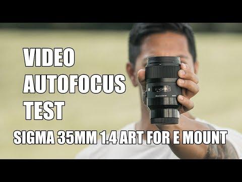 Sigma 35mm 1.4 Art Lens for Sony E Mount Video Autofocus Test