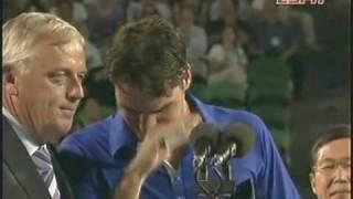 Emotional Moments for Roger Federer..........