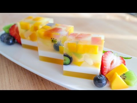 Agar Jelly Fruit Cake Resep Buah Jelly Kue - Hot Thai Kitchen!