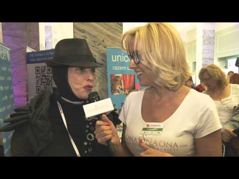 Krystyna Mazurówna na IV Kongresie Kobiet