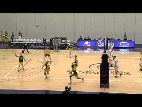 2016-01-09 TWU Men's Volleyball Highlights vs Alberta