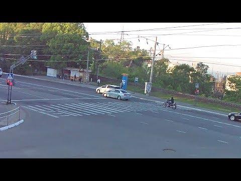 Авария с мотоциклистом в Находке