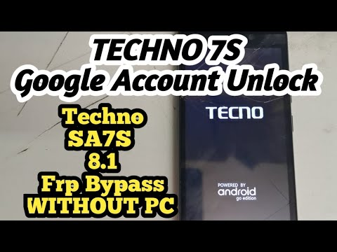 Techno SA7S Google Account Unlock without // Techno 7s Frp Bypass 2020 version 8.1 easy Method