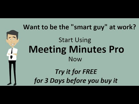 Video of Meeting Minutes Pro