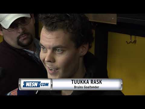 Video: Tuukka Rask reacts to Bruins' win over Sabres