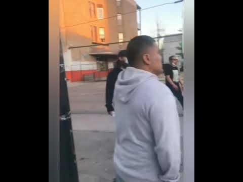 Chicago Latin kings gang protect their hood against looters.