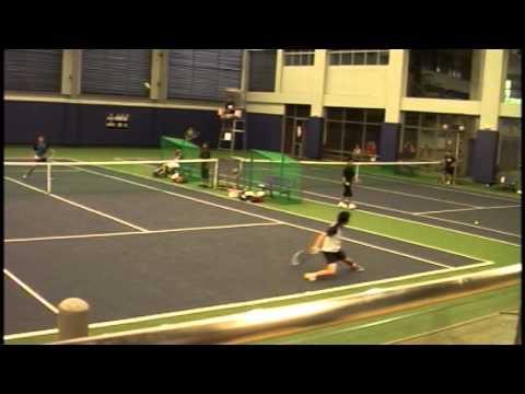 Ateneo HS lawn tennis champion Marcen Gonzales' singles match vs Xavier at ISTA 2013