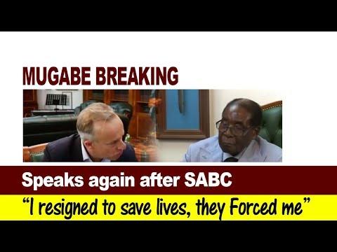 Mugabe Breaking News, Speaks Again After SABC, i resigned to save lives, Zimbabwe Latest News Today
