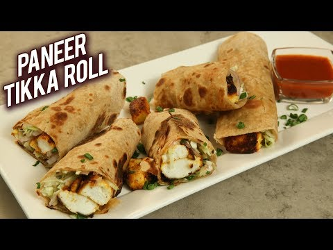 How To Make Paneer Tikka Roll | Quick And Easy Paneer Kathi Roll Recipe | Tiffin Recipe By Varun