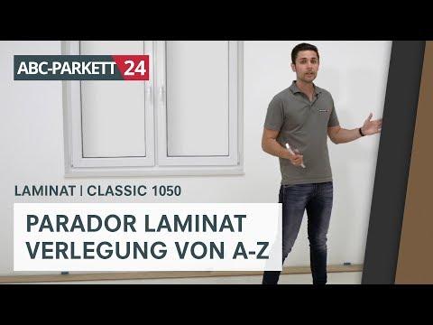PARADOR Laminat Classic 1050 richtig verlegen
