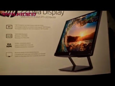HP Pavilion 21.5-Inch IPS LED Monitor UNBOXING $99
