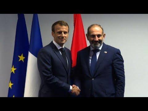 Macron and Pashinyan hold bilateral meeting at NATO summit
