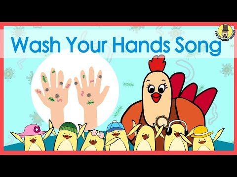Wash Your Hands Song | Music for Kids | The Singing Walrus