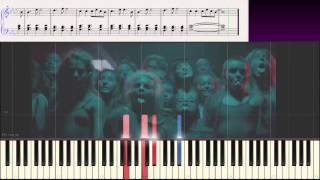 Sia - The Greatest (Ноты и Видеоурок для фортепиано) (piano cover)
