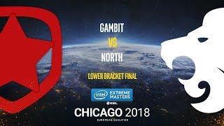 Gambit vs North - IEM Chicago 2018 EU Quals - map1 - de_train [SSW, GodMint]