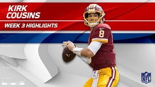Kirk Cousins Tears Through Oakland's Defense! | Raiders vs. Redskins | Wk 3 Player Highlights by NFL